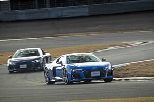 アウディの内燃機関モデル最高峰「R8」と次世代を担う「e-tron」。両車を富士スピードウェイで検証