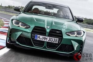 BMW新型「M3セダン」登場! M4クーペと同じ巨大キドニーグリル採用