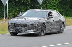 【EV版7シリーズ】BMW「i7」を初撮影 ラグジュアリーな電気自動車、2022年欧州発表か ベンツEQSに対抗
