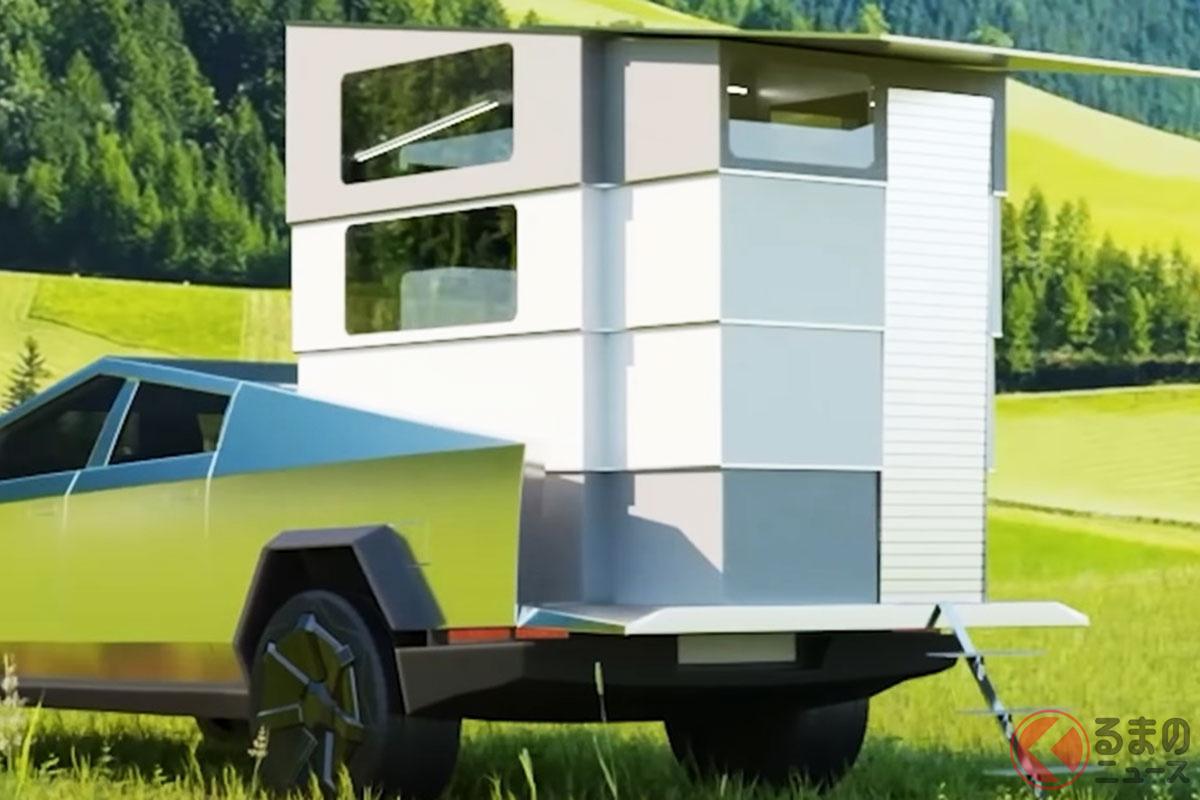 最強キャンパーの新型「サイバートラック」誕生!? シャレオツ車中泊可な新型「サイバーランダー」が凄い