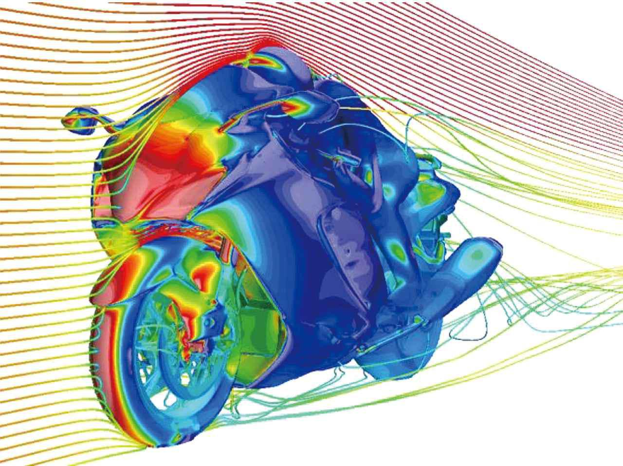 【隼】スズキ新型「ハヤブサ」の各部装備と空力性能・スタイリングを解説! 度重なる風洞実験により生まれたエアロフォルム