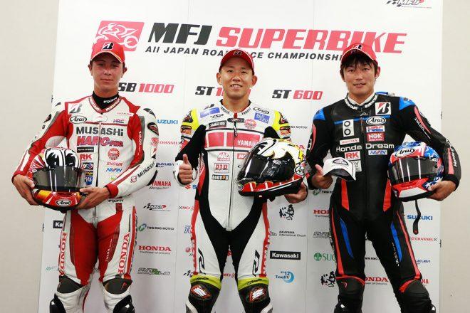 中須賀克行「予想通りの厳しいコンディション。自分のペースを刻んでいった」/全日本ロード第5戦MFJ-GP鈴鹿 JSB1000 レース1会見