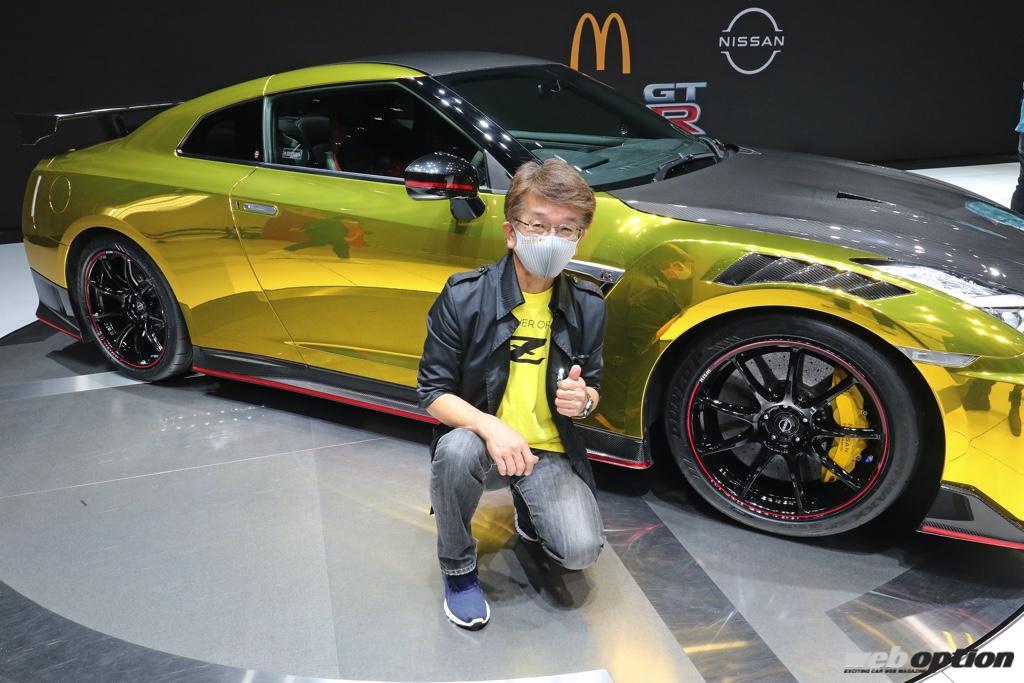 「え?これ、ウチのデモカー!?」大注目のGT-Rハッピーセット仕様を見たスモーキー永田の反応