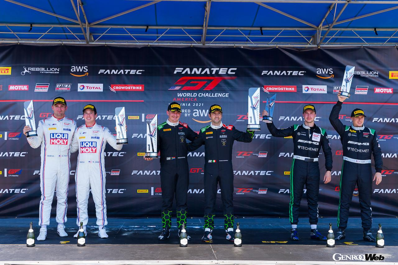 ランボルギーニ ウラカン GT3 EVOが100勝目を達成! GTワールドチャレンジ・アメリカ第5戦を制覇
