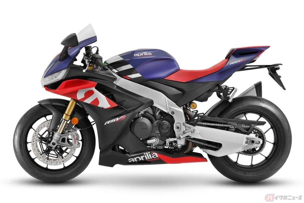 アプリリア「RSV4」新型モデル公開 最新のRS660にインスパイアされた外観と1099ccの改良型エンジンを採用