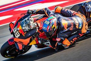 MotoGP第8戦:タイム差0.1秒以内の戦いを制し、KTMのビンダーが初日総合トップ。中上は0.002秒差の2番手に躍進