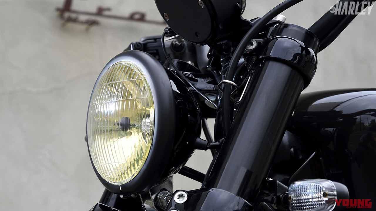 ハーレー用H4ヘッドライト&サイドカバーマウントキット〈トランプサイクルオリジナル〉