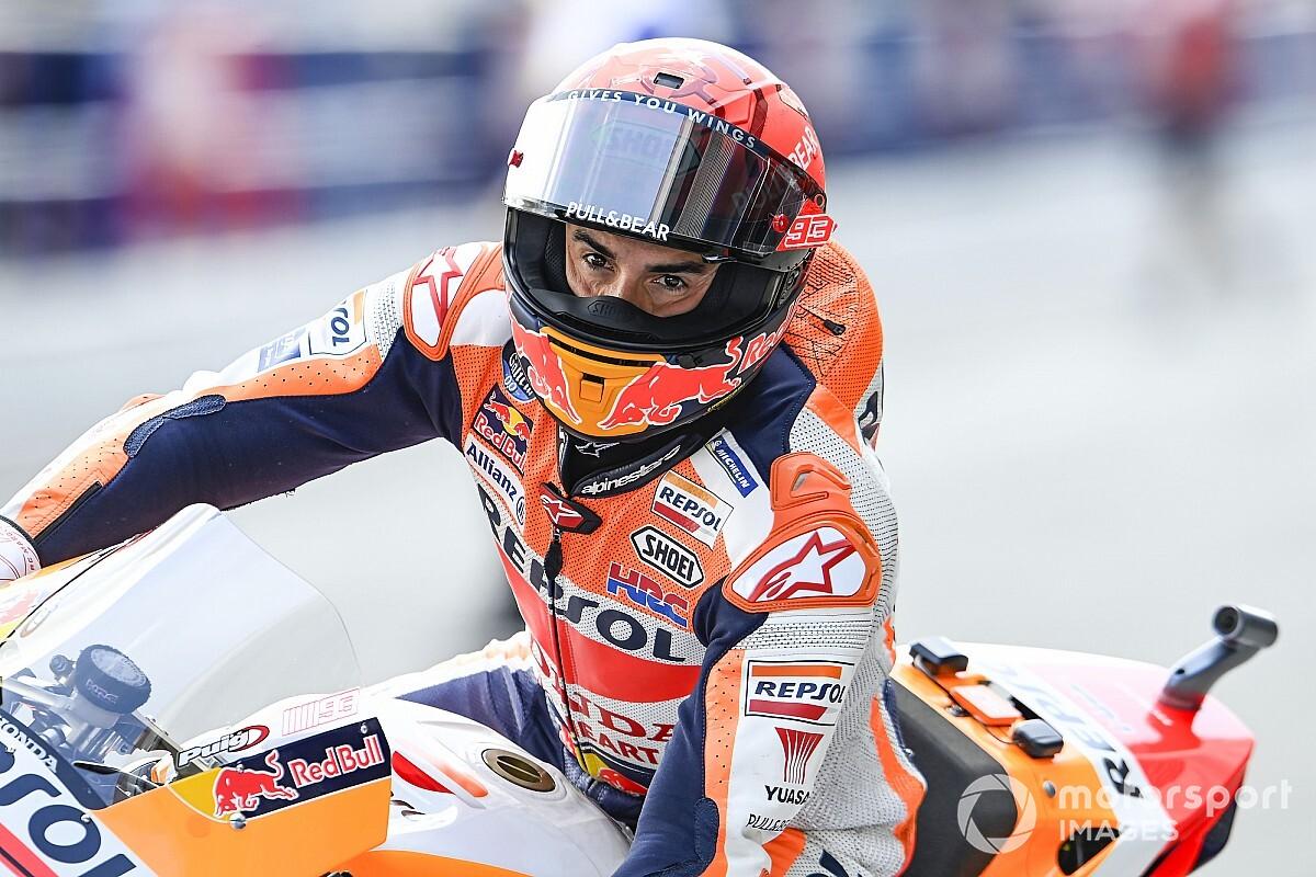 【MotoGP】マルク・マルケス「転倒時の事をよく覚えていない……怖かった」復帰2戦目でビッグクラッシュ経験|スペインGP