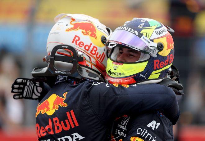 ペレス、追い越し時のペナルティ免れ3位「あと3周あったらハミルトンも抜いて1-2だった」レッドブル・ホンダ/F1第7戦