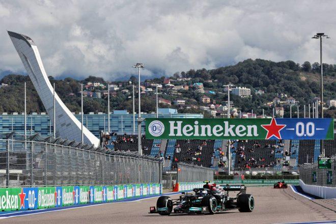 ロシアGP FP1:ボッタスがトップタイム。アルファタウリ・ホンダの角田は最多26周を走行し16番手