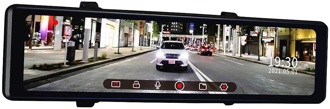JVCケンウッド、前後2カメラ搭載のルームミラータイプ新型ドライブレコーダーを発売