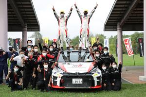 全日本ラリー第9戦 ラリー北海道2021 GRヤリス勝田優勝 SUBARU WRX STI 新井大輝が2位、鎌田卓麻が3位獲得