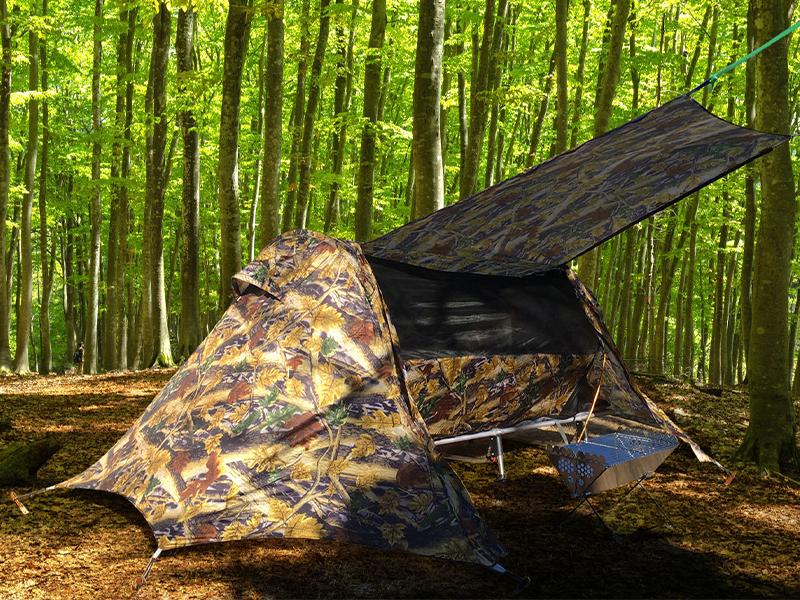 キャンプツーリングに便利な「コットテント」の改良版が帝都産業株式会社から発売!