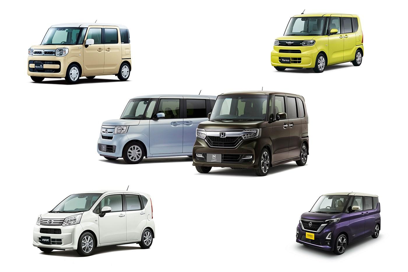 3月の軽自動車売り上げ、N-BOX、スペーシア、タント、ルークスの4メーカーのスーパーハイトワゴンがトップ4に