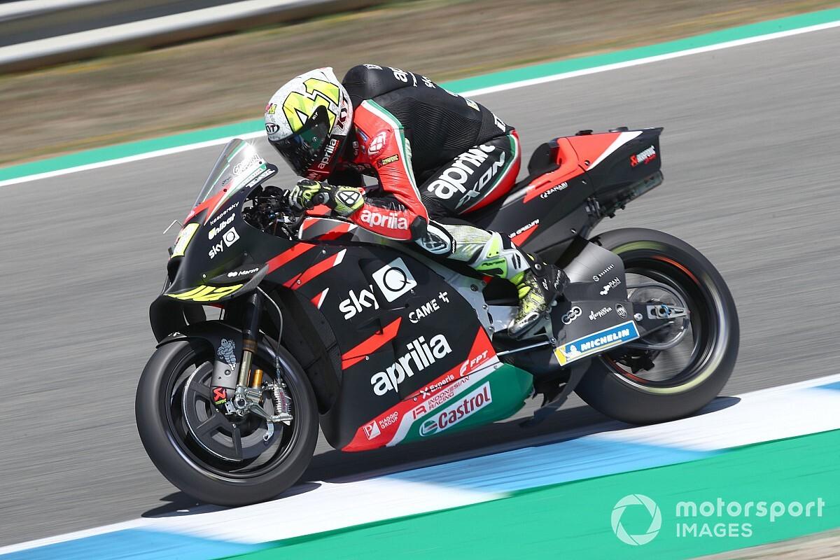 "【MotoGP】""大変革""遂げたアプリリア、開発に尽力のエスパルガロ兄「とても誇らしい」と喜び噛み締める"