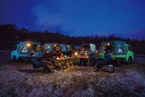 軽トラの荷台にテントを張ったら面白いんじゃない? 荷台泊で楽しむ夕べ|車中泊 Kカー カスタム