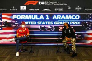 F1第17戦木曜会見:フェラーリを引っ張るルクレールは「難しい時期を経ていっそう強くなった」とハミルトンが評価