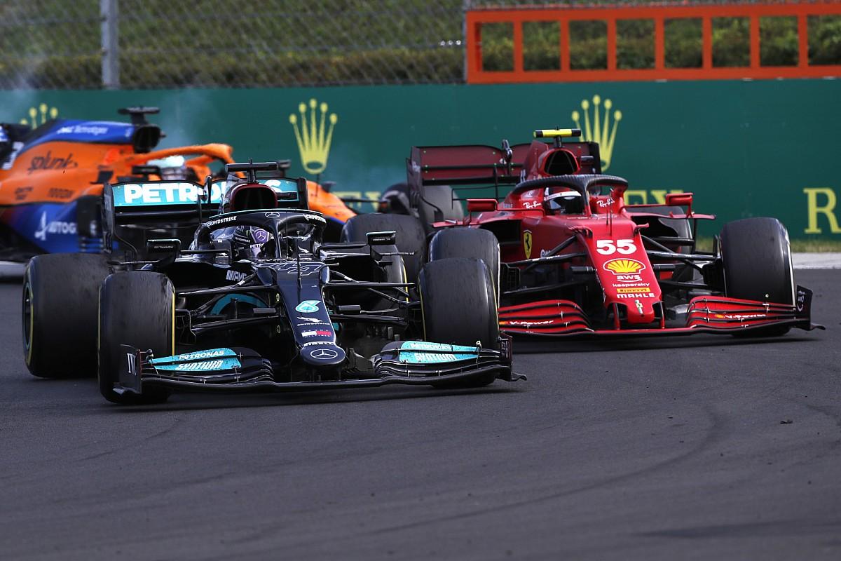サインツJr.、今季2度目の表彰台も悔い残る?「優勝争いが目の前……本来ならその中に加われたのに」 F1ハンガリーGP