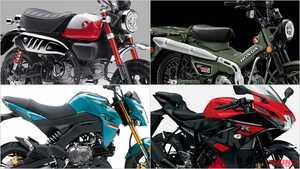 2021新型バイク総まとめ:日本車51~125cc原付二種クラス【新125&110横型エンジン投入でホンダ原二再躍進!】