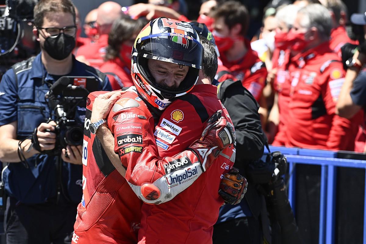【MotoGP】ジャック・ミラー、掴み取ったスペインGPでの2勝目に感極まる 「努力し続けて獲得した勝利」