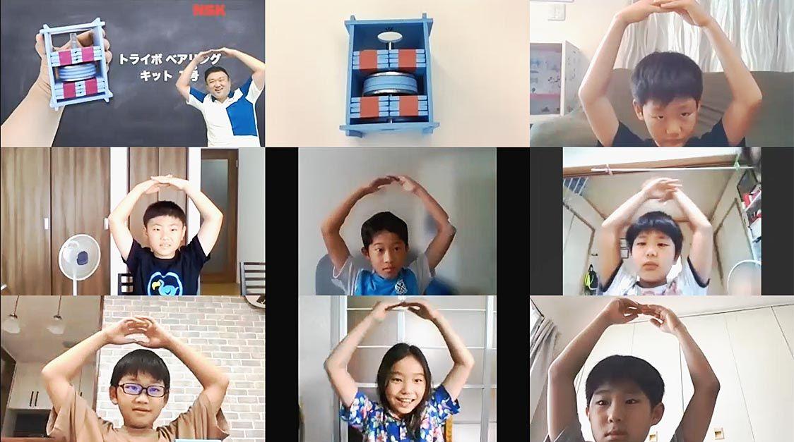 「ベアリングの効果を体感」 日本精工が子ども向け科学講座