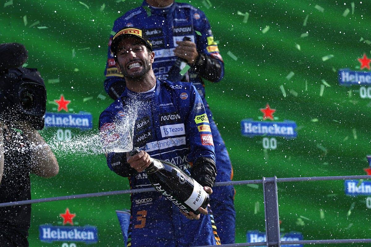 """【F1分析】リカルドはF1イタリアGPに勝つべくして勝った? データから見える""""絶妙な戦略""""の兆しと速さ"""
