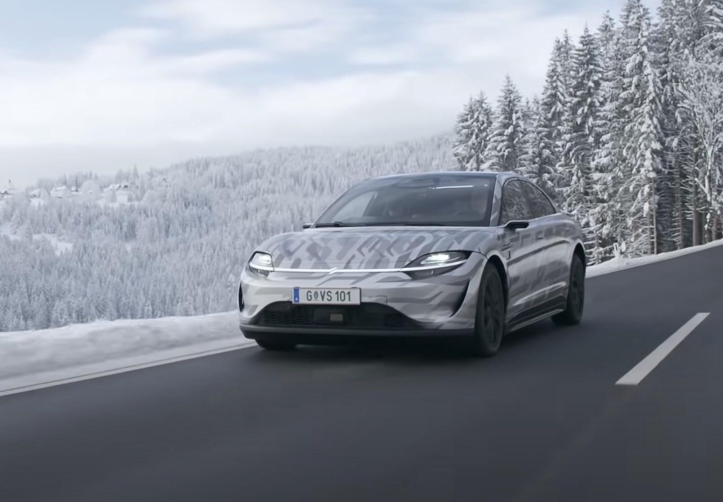ソニーが開発中の電気自動車「VISION-S」の走行シーン公開。0-100km/hは4.8秒