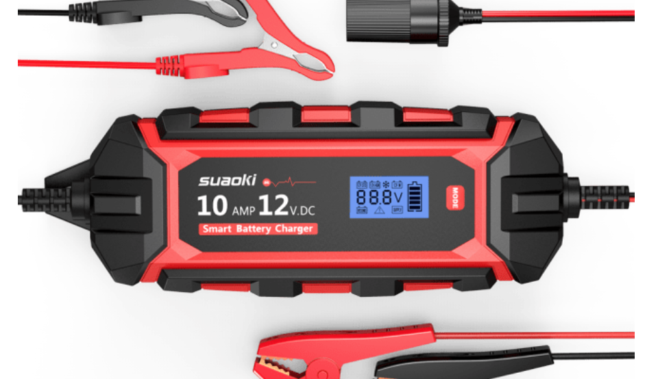 これがあれば安心!12Vバッテリー対応で軽自動車や普通乗用車に使えるSUAOKIの自動車用バッテリー充電器「Zシリーズ」