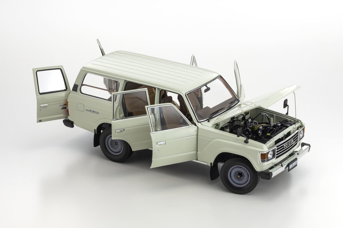 トヨタ・ランドクルーザー60が1/18スケールで復活! 新色が追加され発売へ【京商】