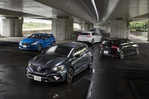【比較試乗】「VWゴルフGTIvs BMW M135i  vs メルセデスAMG A35vs ルノー・メガーヌR.S.」異なるハイパフォーマンスの解釈と表現