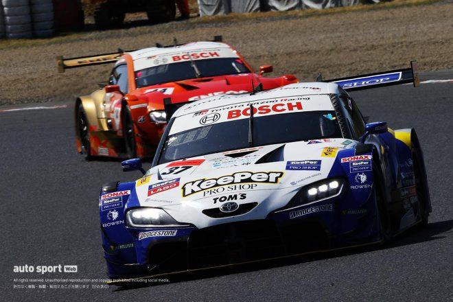 悪夢再び……トップ走行のKeePer TOM'S GRスープラを襲った不幸な2つのアクシデント【第1戦岡山GT500決勝】