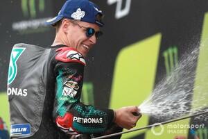 """【MotoGP】「表彰台に戻って良い気分」マルケスに""""もっと期待されていた""""クアルタラロ、復活3勝目に喜び"""