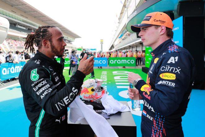 フェルスタッペン2位「ルイスがピットインした時『終わった』と思った」レッドブル・ホンダ/F1第4戦