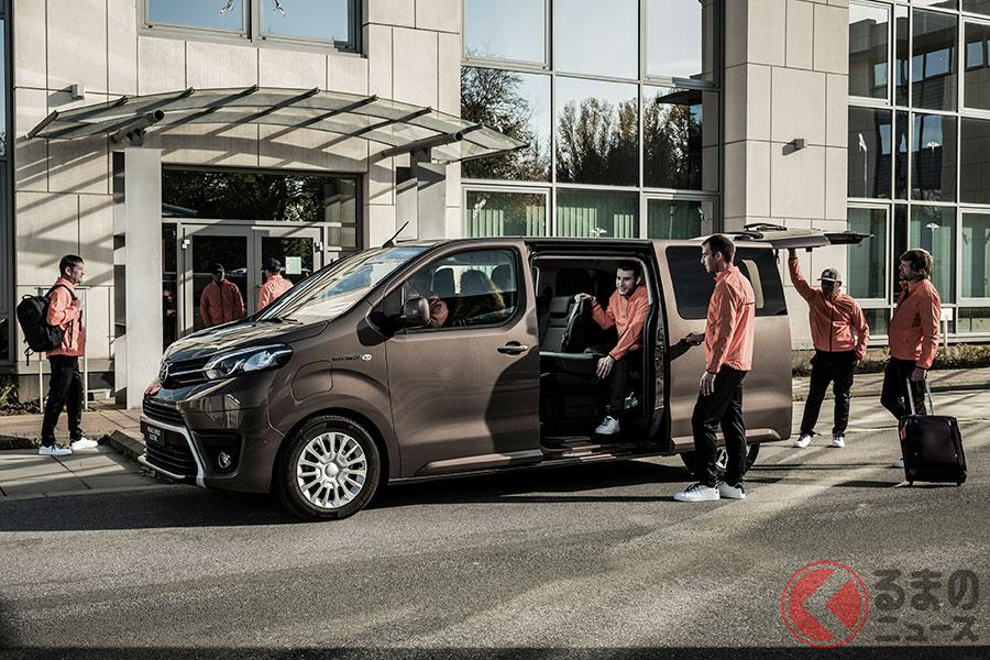 なぜハイエースじゃない!? トヨタ新型ワゴン「プロエースヴァーソEV」登場! 2021年投入へ