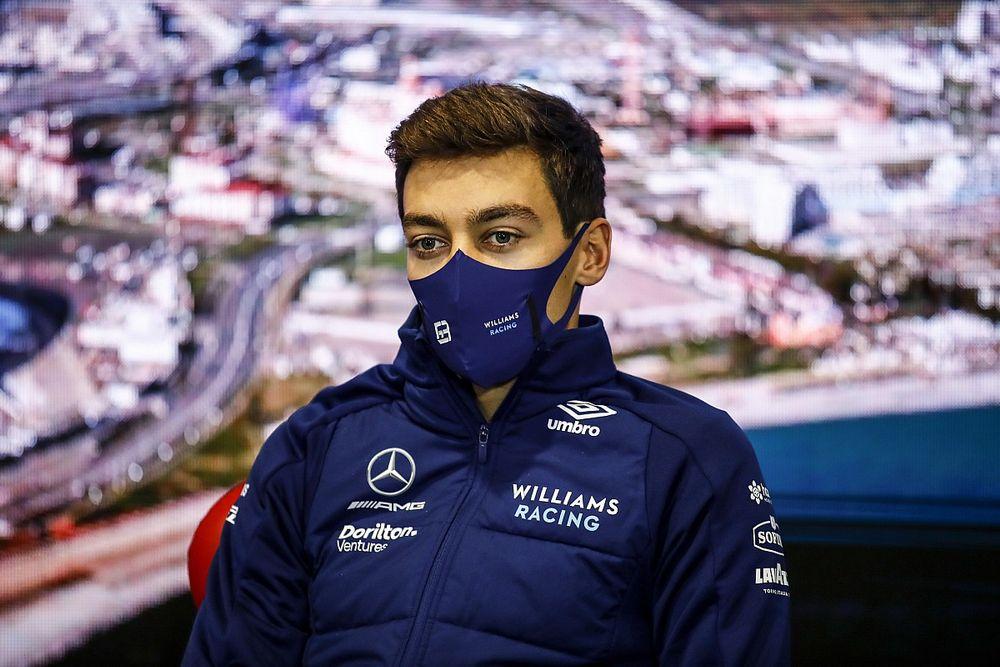 ラッセル、思い切ったドライタイヤ交換で3番手獲得「ピットレーンでクラッシュ寸前だった」 F1ロシアGP