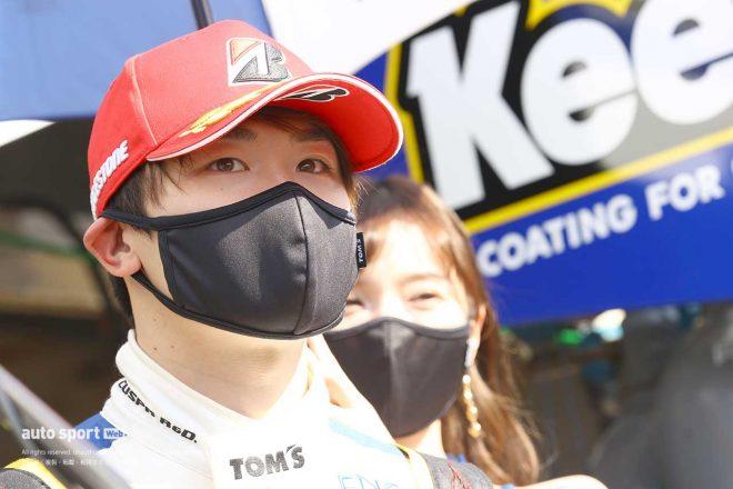 阪口晴南、会心のアタックでPP獲得。「この位置を守れるよう頑張りたい」【第1戦GT500予選会見】