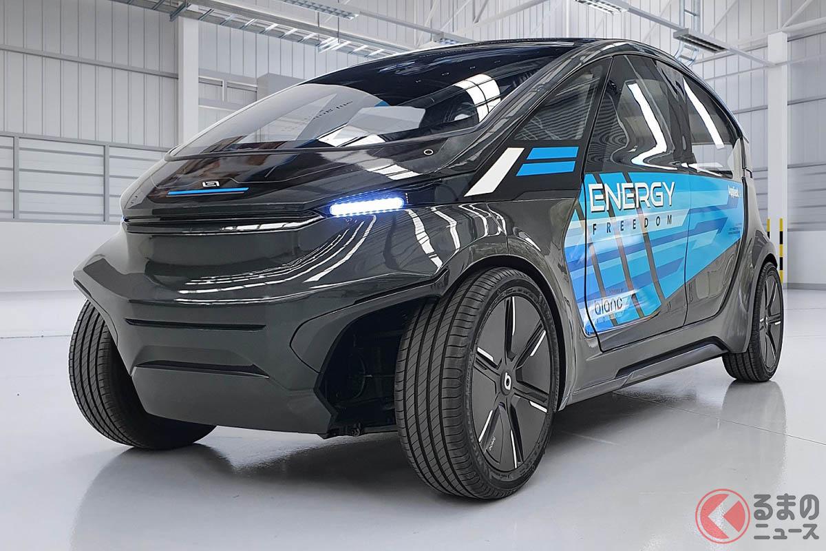 帝人が新型「LS-EV」プロトタイプをAEV社と共同開発 消費エネルギー効率はほぼ歩行者レベル