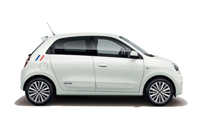 仕様変更したばかりのルノー・トゥインゴに専用トリコロールサイドストライプを配した特別仕様車を設定