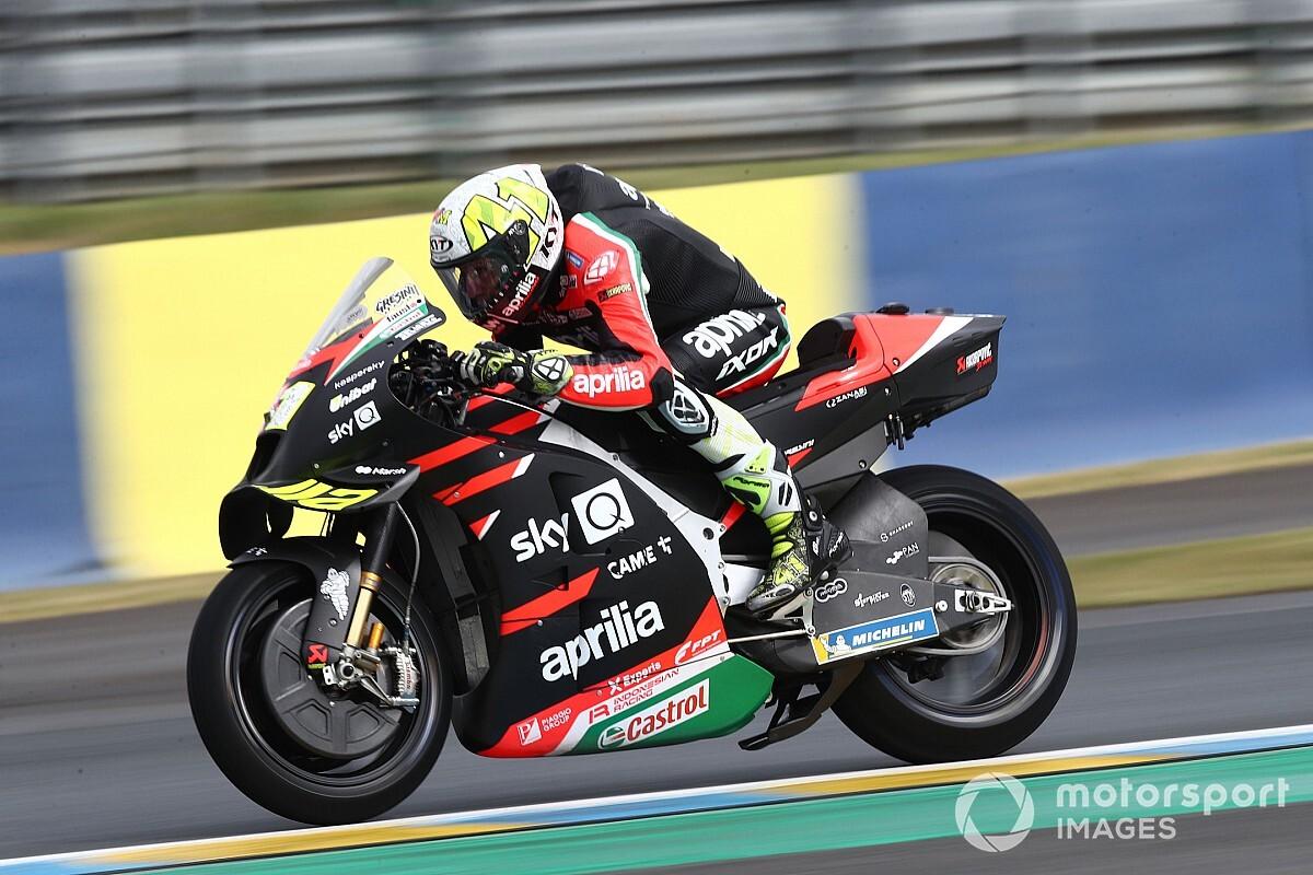 """【MotoGP】フランスGPリタイア、アレイシ・エスパルガロは""""お冠""""。「楽にトップ5へ入れたはずなのに!」"""