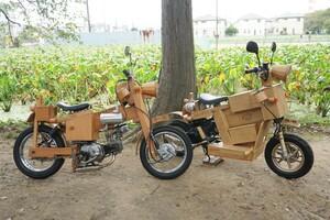 世界にたった1台!? 木造建築職人がフレームまで木で作っちゃった「木製スクーター」製作記