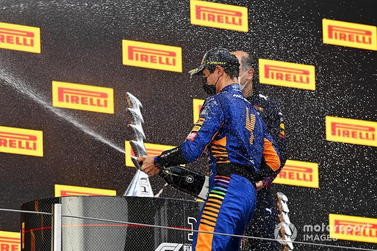 """マクラーレンF1代表、ランド・ノリスの""""速さ""""をベタ褒め「表彰台は当然の結果だ」 F1エミリア・ロマーニャGP"""