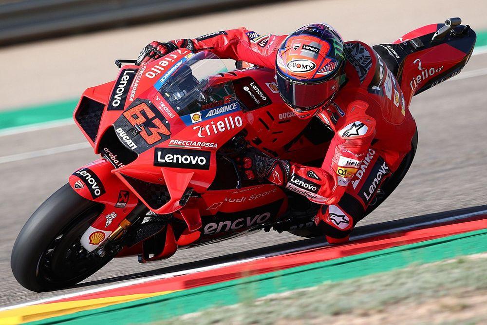"""【MotoGP】アラゴン""""予想外の""""PP獲得フランチェスコ・バニャイヤ、改善の鍵は今季大注目マルティンのデータ"""