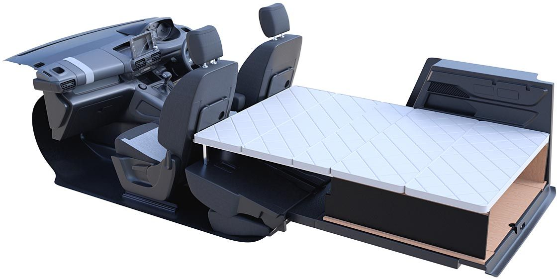 PSAジャパン、シトロエン「ベルランゴ」の車中泊仕様キット発売 無加工で取り付け可能