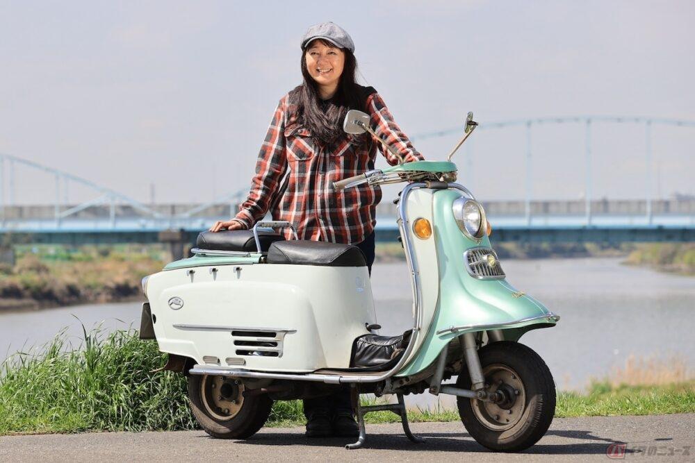 ヴィンテージな鉄スクーター富士重工業のラビット S601ってどんなバイク? ママライダーが親子でタンデムツーリングに行ってみました!
