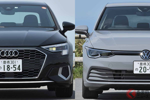 似て非なる同門対決! VW新型「ゴルフ」とアウディ新型「A3スポーツバック」はどう違う?