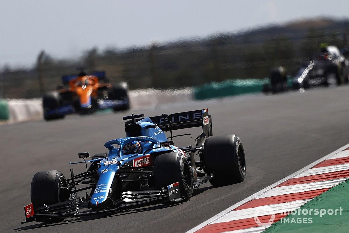 アルピーヌ躍進! アロンソ8位「開幕2戦では考えられない位置で戦えた」 F1ポルトガルGP