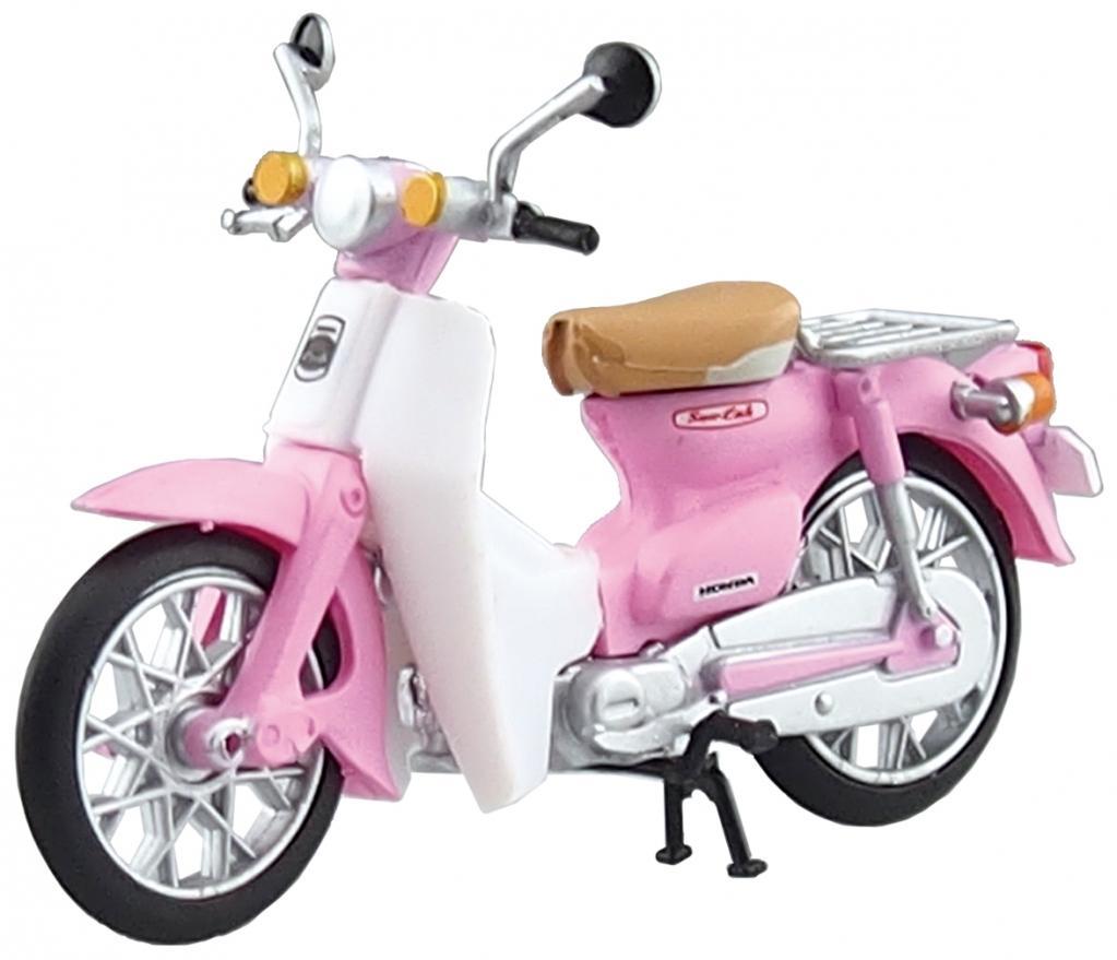 ピンクのカブは激レアです 青島のカプセルトイ「1/32 スーパーカブコレクション」