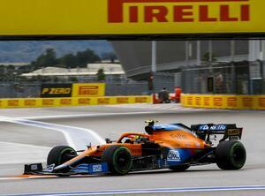 2021年F1第15戦予選はタイヤ選択で明暗。ノリスがハミルトンに2秒差つけてPP獲得【ロシアGP予選】