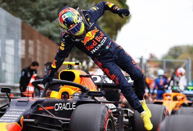 ペレス、0.035秒差の予選2番手「ミスがなければポールだった。優勝争いができるって最高」レッドブル・ホンダ/F1第2戦