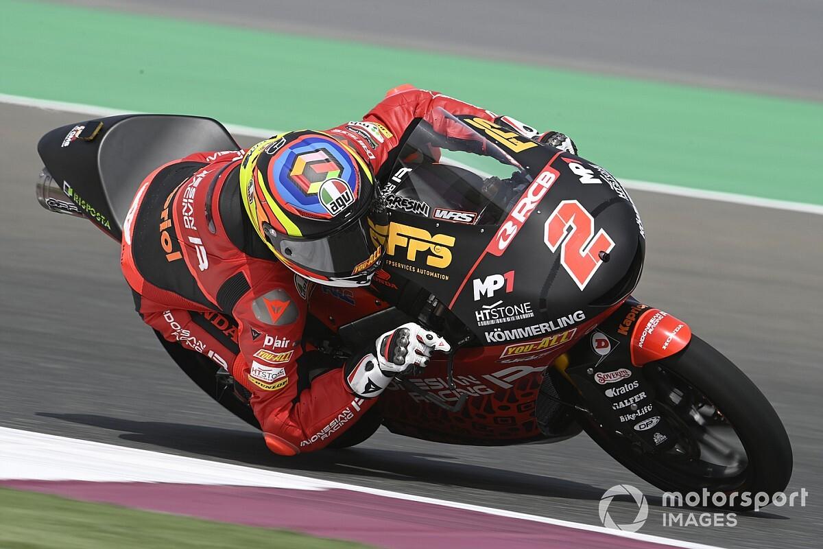 Moto3ポルトガル初日:コンディションに翻弄される1日に。トップはガブリエル・ロドリゴ。日本勢は鈴木竜生が7番手